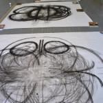 Charcoal drawings in-progress