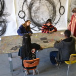 Alabama Charcoal students creating a series of small drawings in preparation for a larger project